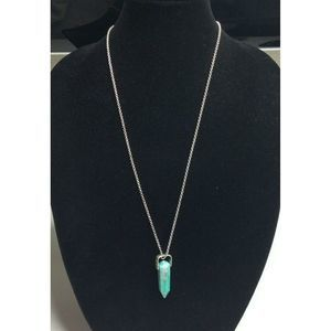 Lucky Brand Women's Silver Necklace Shard Pendant
